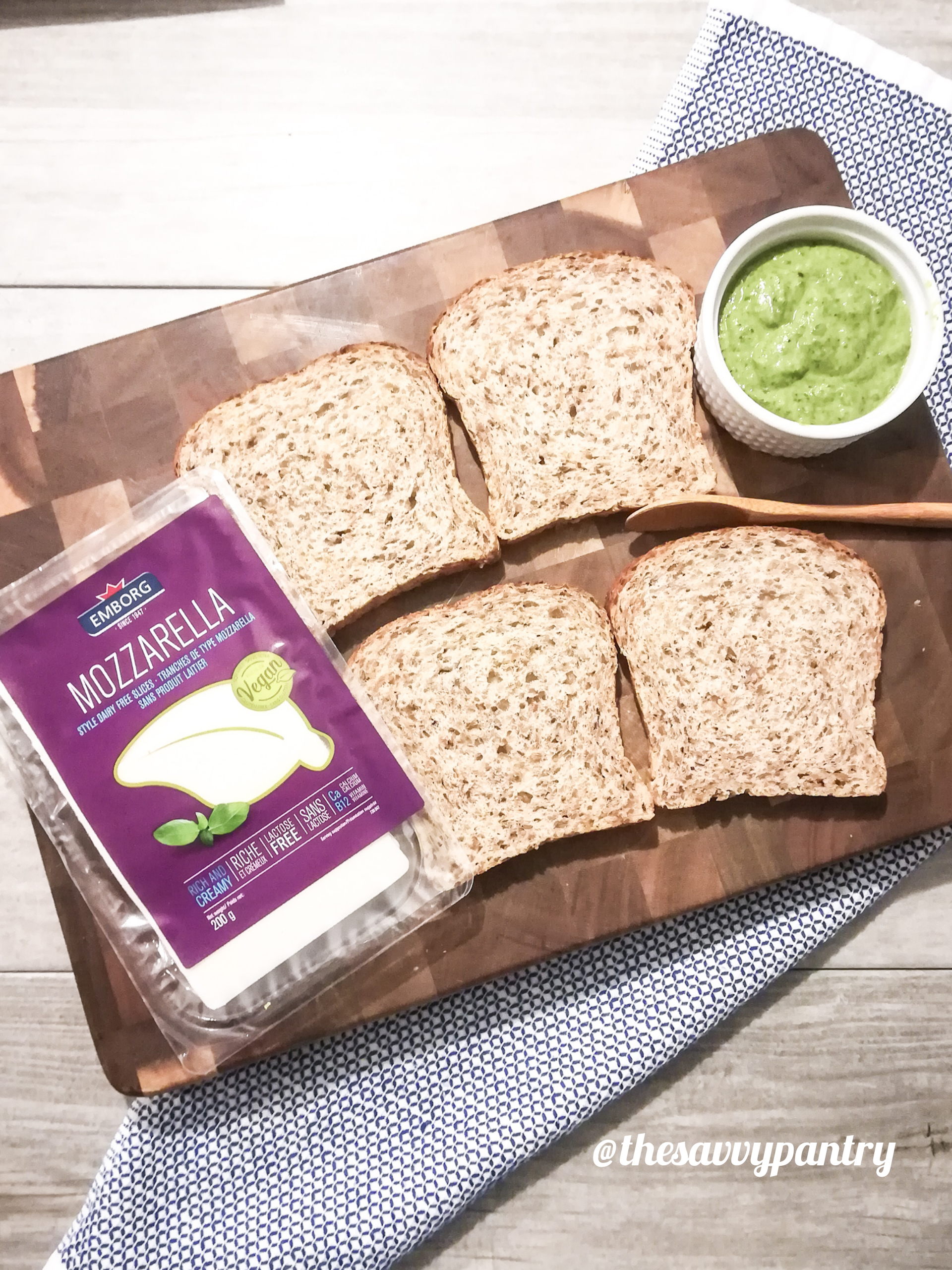The Savvy Pantry Green Goddess Grilled Cheese